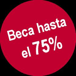 Beca hasta el 75%